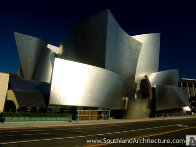 Frank Gehry's Walt Disney Concert Hall in Los Angeles.  Photograph courtesy of our sister site, Southland Architecture.
